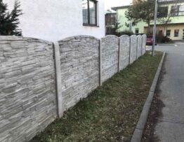 Betonový plot - Kolínsko