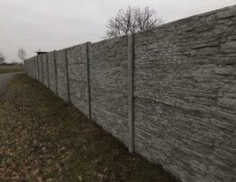 Betonový plot - Havlíčkův Brod