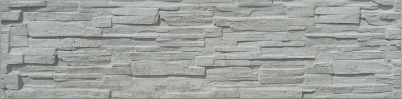 Plotový dílec - betonový, vzor lámaný kámen