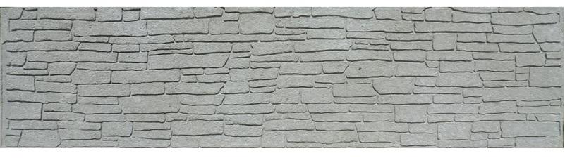 Betonový dílec plotový vzor břidlice