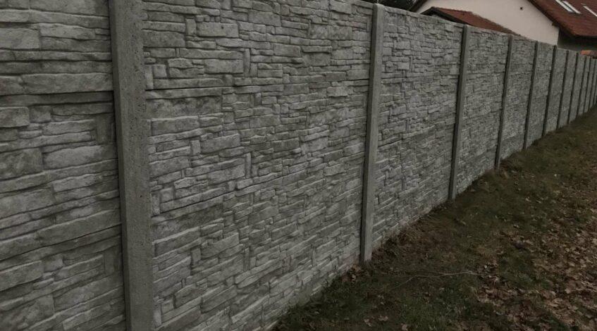 Prvky pro betonové ploty