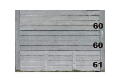 betonové ploty dřevo