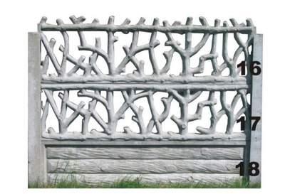 betonové ploty větve