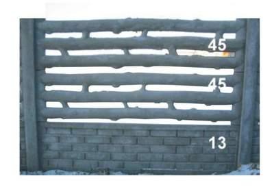 betonový plot dřevo